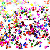 Star kształcie konfetti — Zdjęcie stockowe