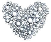 Metal heart — Stock Photo