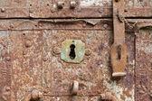 Eski paslı anahtar deliği — Stok fotoğraf