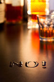 No to Alcohol — Stock Photo