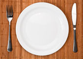 Dinner place setting — Stock Photo