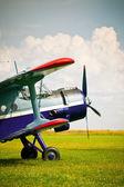 Retro sport airplane — Stock Photo