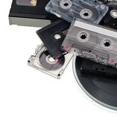 Audio tape background — Stock Photo