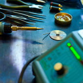 Soldering background — Stock Photo