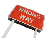 Wrong Way signpost — Stock Photo