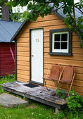 Camping cabin — Stock Photo