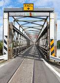 Road-rail bridge — Stock Photo