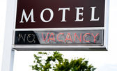 Motel Vacancy Sign — Stock Photo