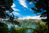 Marlborough Sounds framed view — Stock Photo