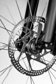 Bicycle disk brake — Stock Photo