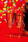 Nyårs champagne — Stockfoto