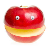 Red Apple Character — Stock Photo