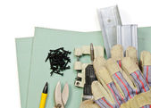 Drywall tools set — Stock Photo