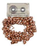 オーディオ テープを台無しに — ストック写真
