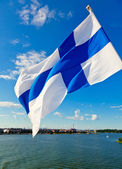 Waving Finnish Flag — Stock Photo