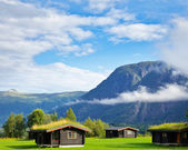 Camping hutten in scandinavië — Stockfoto