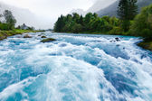 Glacier river — Stock Photo
