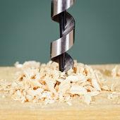 Taladrado en madera — Foto de Stock