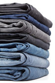 Jeans pile — Stock Photo