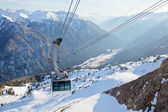 Cable car in Dolomites — Stock Photo