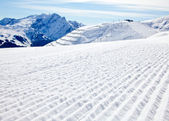 Sunny Piste — Stock Photo