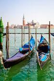 Gôndolas em veneza — Fotografia Stock