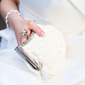 Bridal purse — Stock Photo