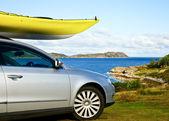Kayak on a car — Stock Photo