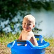 Alfresco bathing — Stock Photo