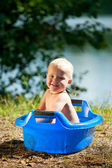 Alfresco bathing — Stock Photo