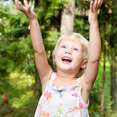 Happy Little girl outdoors — Stock Photo