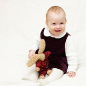 Infant with toy — Stock Photo