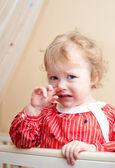 Tearful baby — Stock Photo