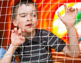 Boy in playground — Stock Photo