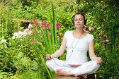 Relaxing in a garden — Stock Photo