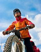 Bisikletçi — Stok fotoğraf