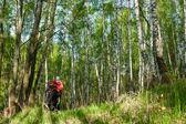 Путешествие велосипедиста — Стоковое фото