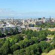 Edinburgh cityscape panorama - Stock Photo