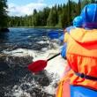 White water rafting — Stock Photo #15764929