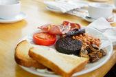 Full Scottish breakfast — Stock Photo