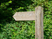 Public Path signpost — Stockfoto