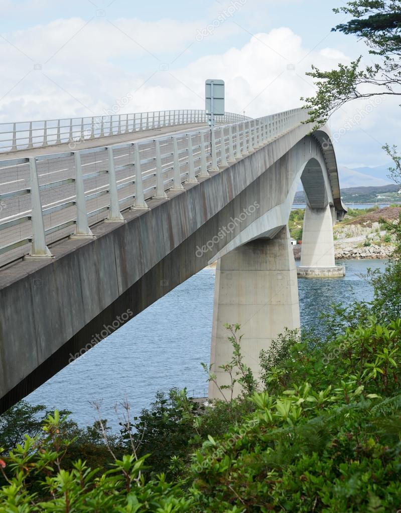 The Skye Bridge over Loch Alsh, connecting mainland Highland with the Isle of Skye in  Scotland  Stock Photo #15764977