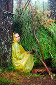 I en skydd av grenar — Stockfoto