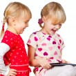 Children playing with tablet computer — Stock Photo #17175111
