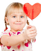 Child with lollypop — Stock Photo