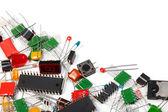 Electronics components background — Stock Photo