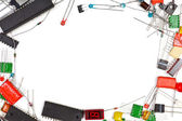 Electronics components frame — Stock Photo