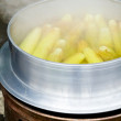 Boiling corn cobs — Stock Photo