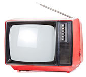 Vintage portable TV set — Stock Photo