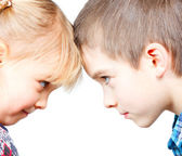 Children face to face — Stock Photo